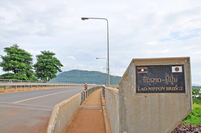 Download Laos Japanese Bridge stock photo. Image of city, pakse - 34616896