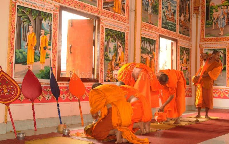 Laos: La universidad budista del ` de Champasak del ` en Pakse es la más grande de Indochina fotografía de archivo libre de regalías