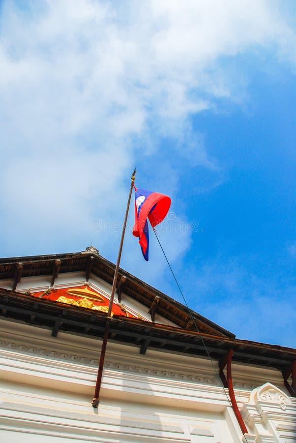Laos Laos flagga royaltyfria foton