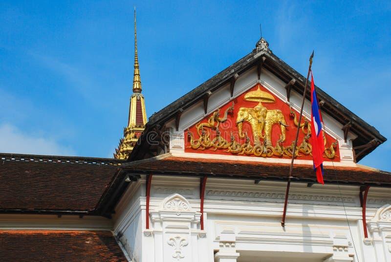 Laos Laos flagga arkivbilder