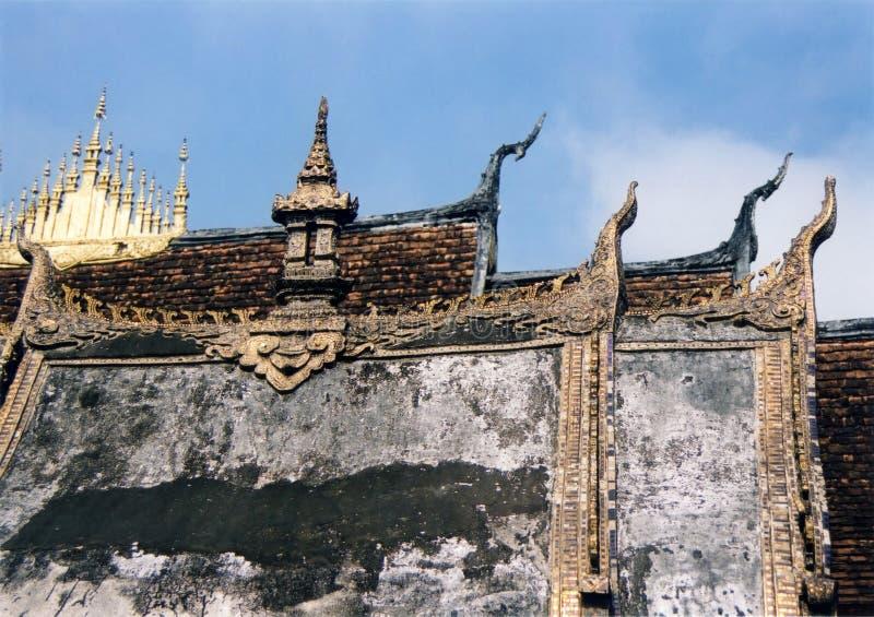 laos luang phabang zadasza świątynię. zdjęcie stock