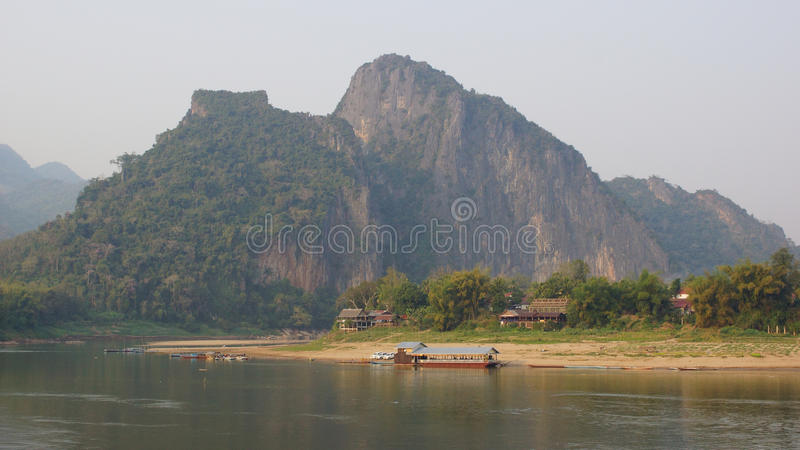 laos luangprabang arkivbild