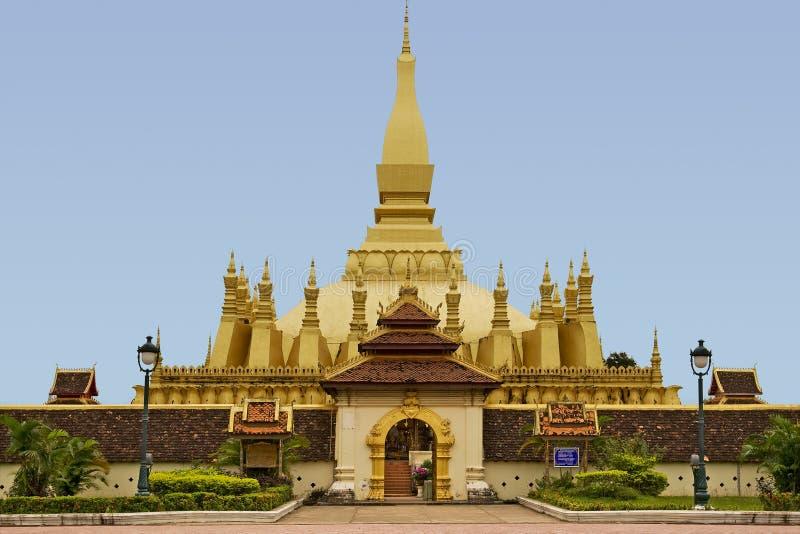 laos luangtempel arkivbilder