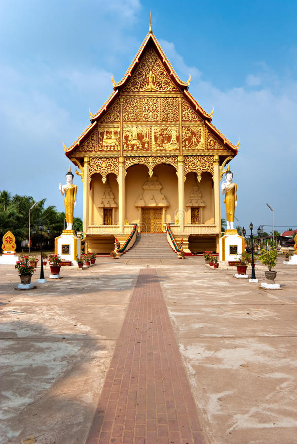 laos luangwat arkivfoton