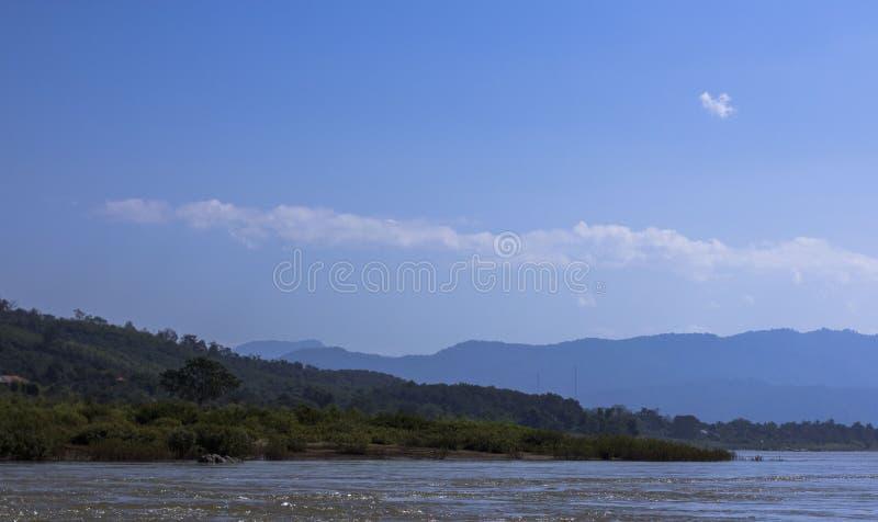 Laos Mekong River sikt arkivfoton