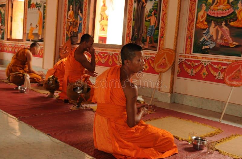 Laos: Monastry en el stupa santo ese Luang en el capital Vien foto de archivo libre de regalías