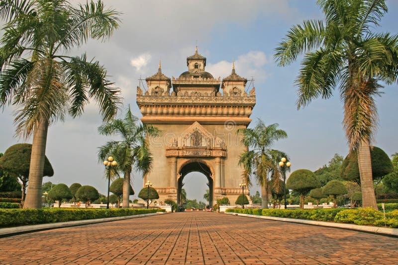 Laos Monument stock photo