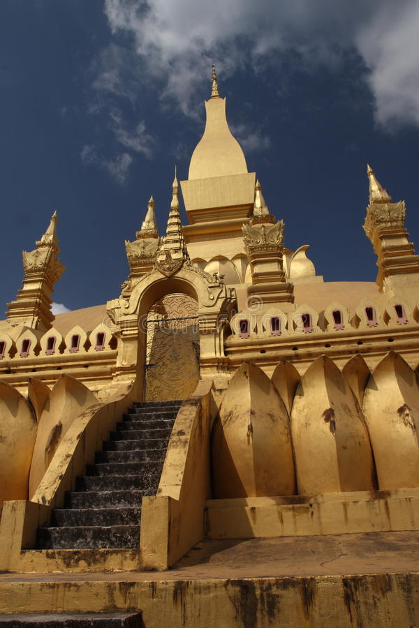 Laos national monument royalty free stock images