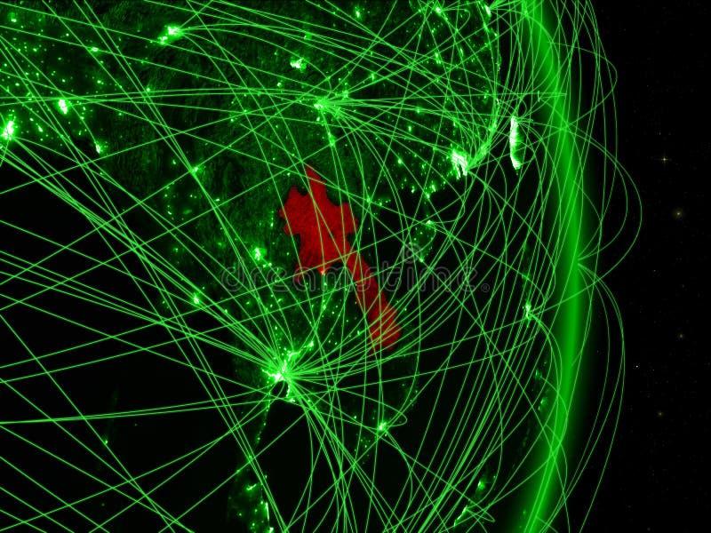 Laos op groene Aarde vector illustratie