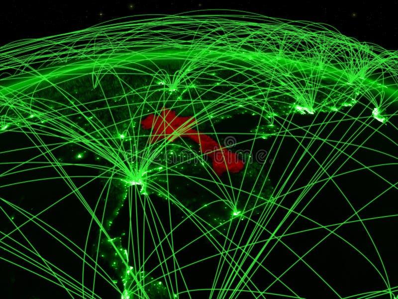 Laos op groene bol vector illustratie
