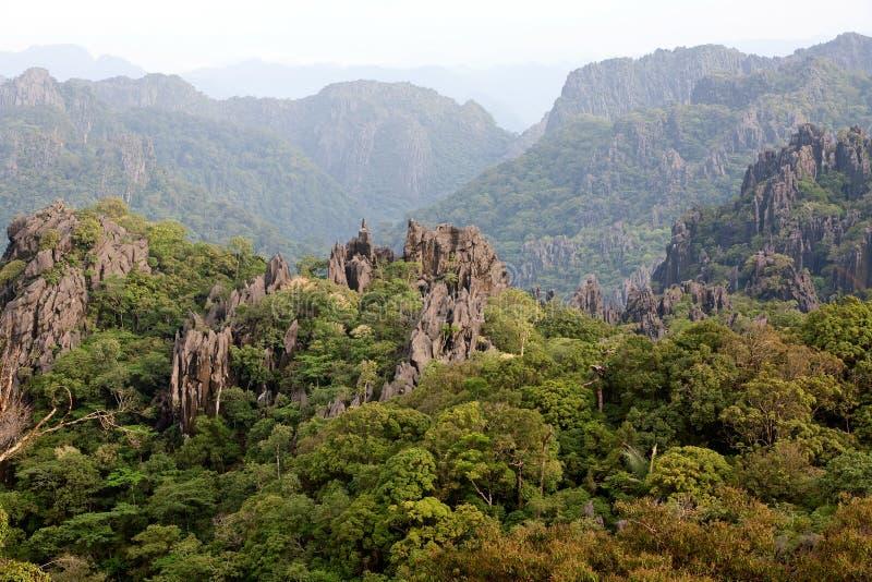 Laos, paisagem nas montanhas imagem de stock