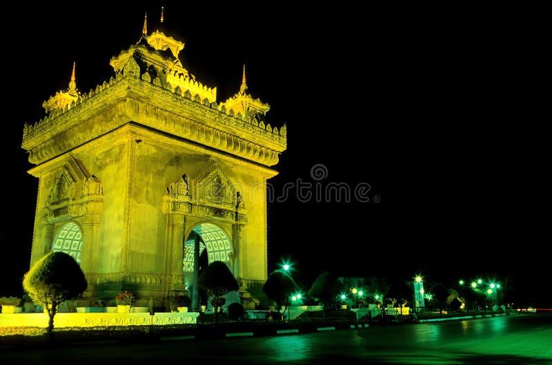 laos pomnikowy patuxay Vientiane fotografia stock