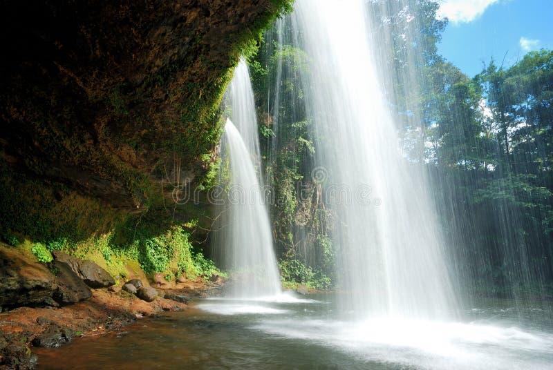 laos södra vattenfall arkivbilder
