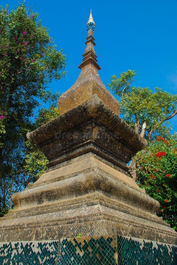 Laos tempel royaltyfria bilder