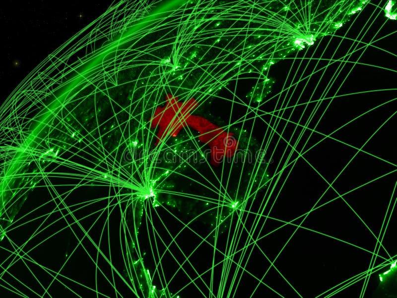 Laos ter wereld met netwerk vector illustratie
