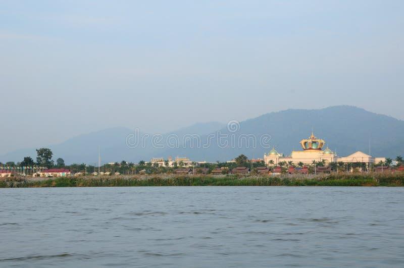 Laos trójboka Złoty teren obrazy stock