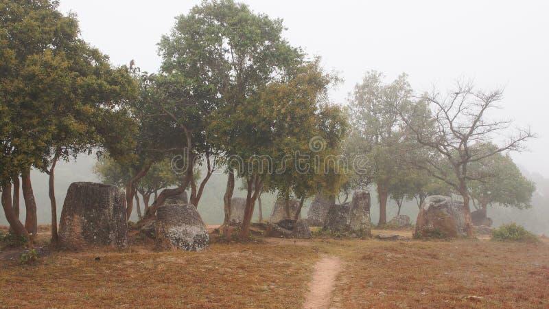 Laos, vale do jarro fotografia de stock