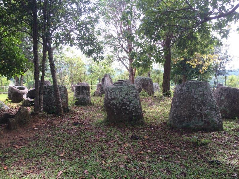 Laos, vale do jarro foto de stock royalty free