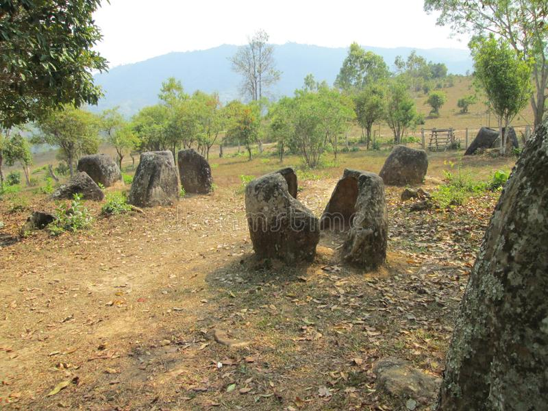 Laos, vale do jarro imagens de stock