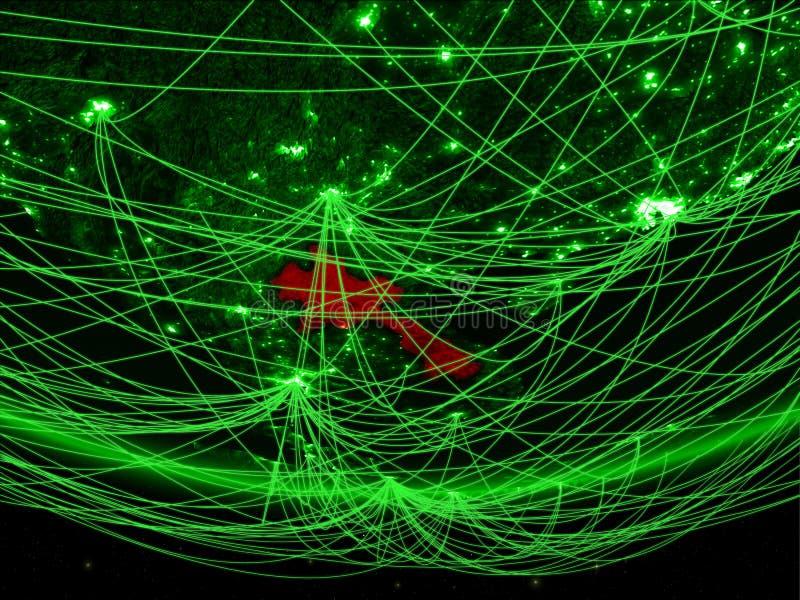 Laos van ruimte met netwerk vector illustratie