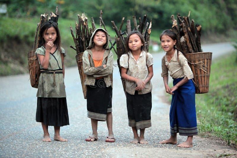 LAOS VANG VIENG LUANG PRABANG VAN AZIË ZUIDOOST-AZIË stock fotografie