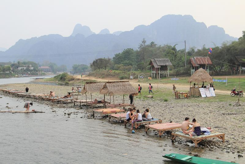 laos vangvieng arkivbild