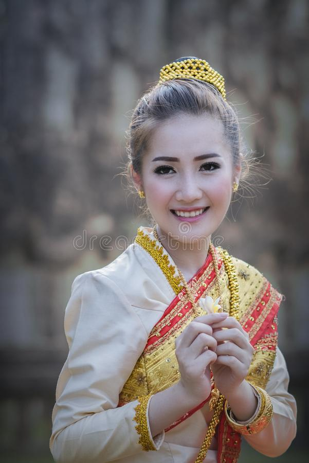 Laos woman royalty free stock photo