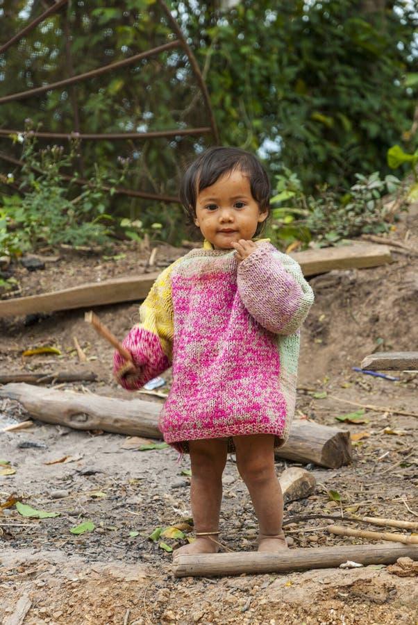 Laotian dziewczyna, portret zdjęcia stock