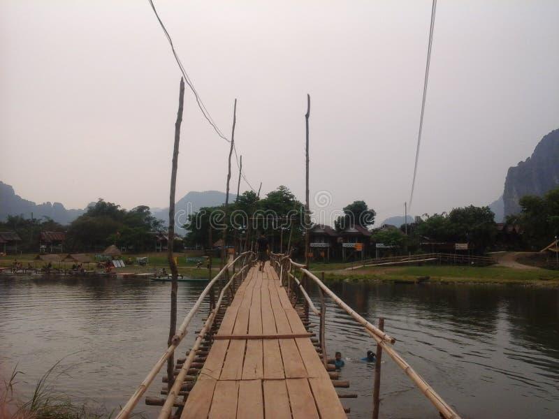 Laotiska Vangvieng royaltyfri fotografi