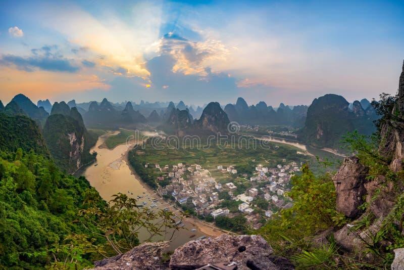 Laozhai小山,桂林 库存图片