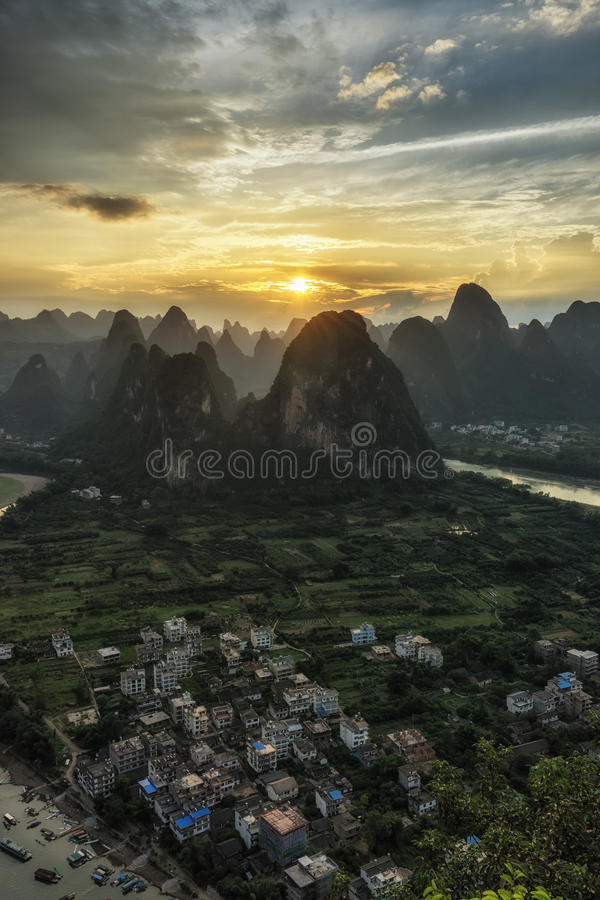 Laozhai山观点 库存图片