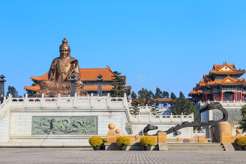 Laozi statua w yuanxuan taoist świątyni Guangzhou obraz royalty free