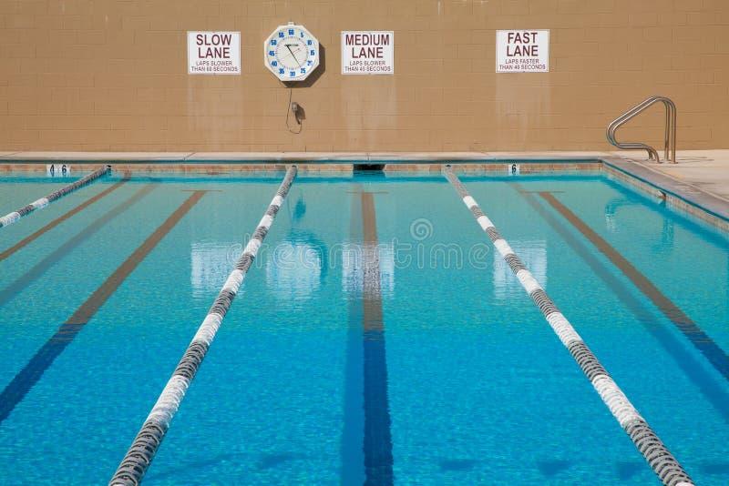 Lap Swimming Pool Stock Image Image Of Clock Exercise