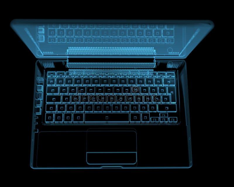 Lap-top που απομονώνεται σύγχρονο στο Μαύρο απεικόνιση αποθεμάτων