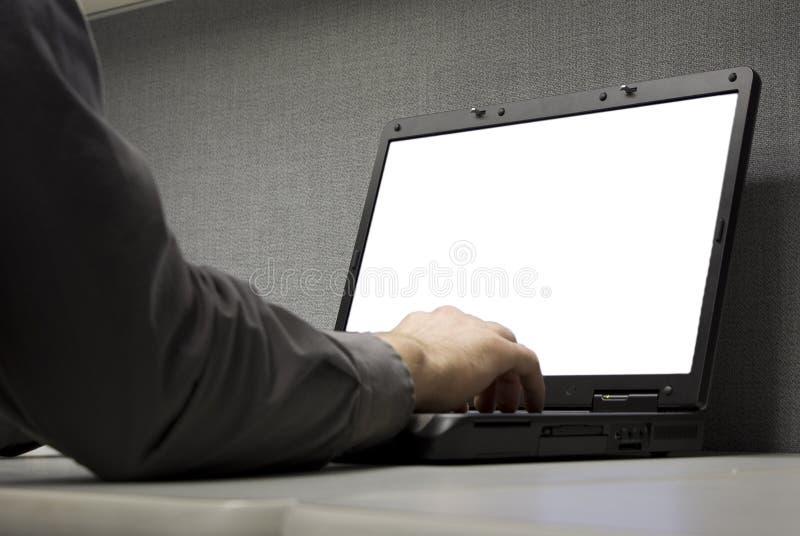 Lap-top στο γραφείο στοκ εικόνες
