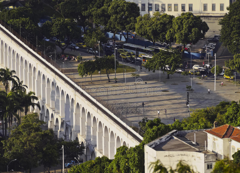 Lapa曲拱在里约 库存照片