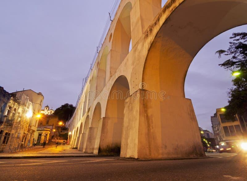 Lapa曲拱在里约 免版税图库摄影