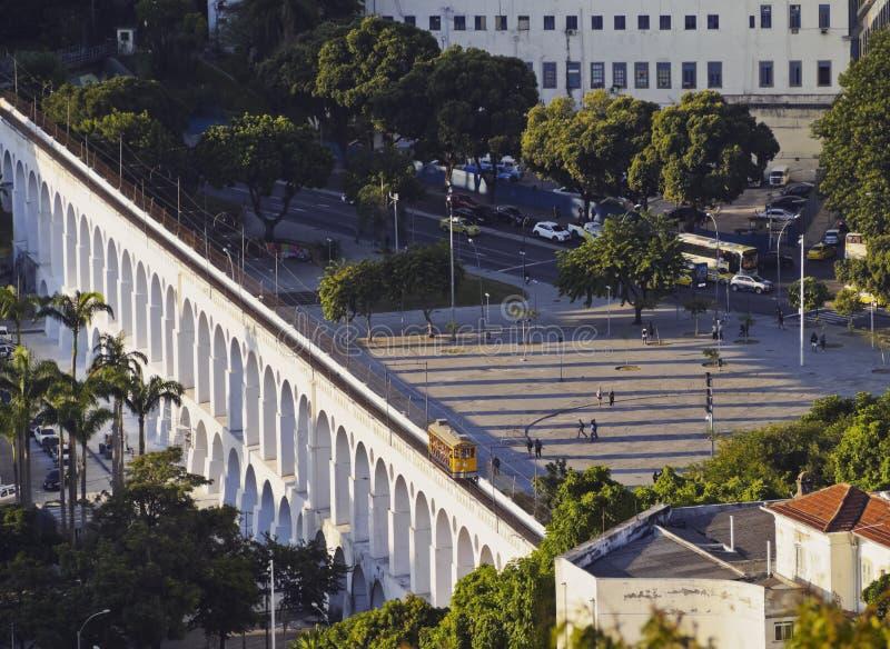 Lapa曲拱在里约 免版税库存图片