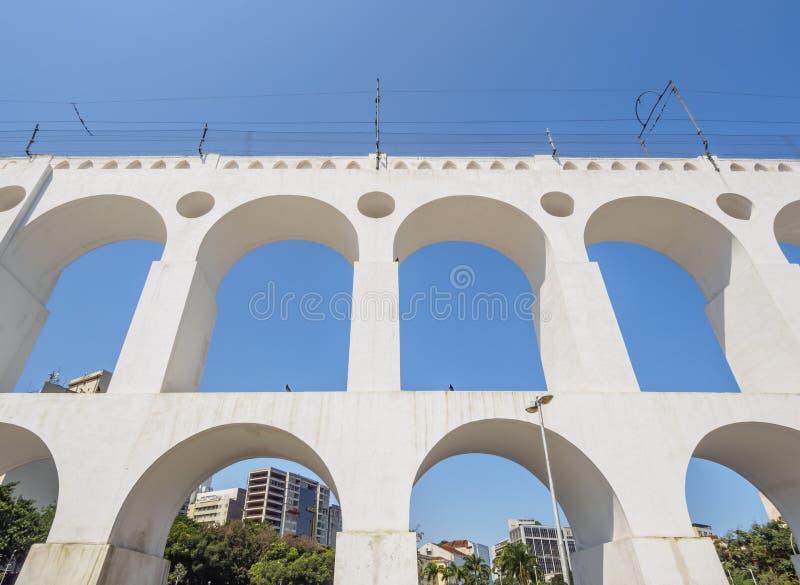 Lapa曲拱在里约 库存图片