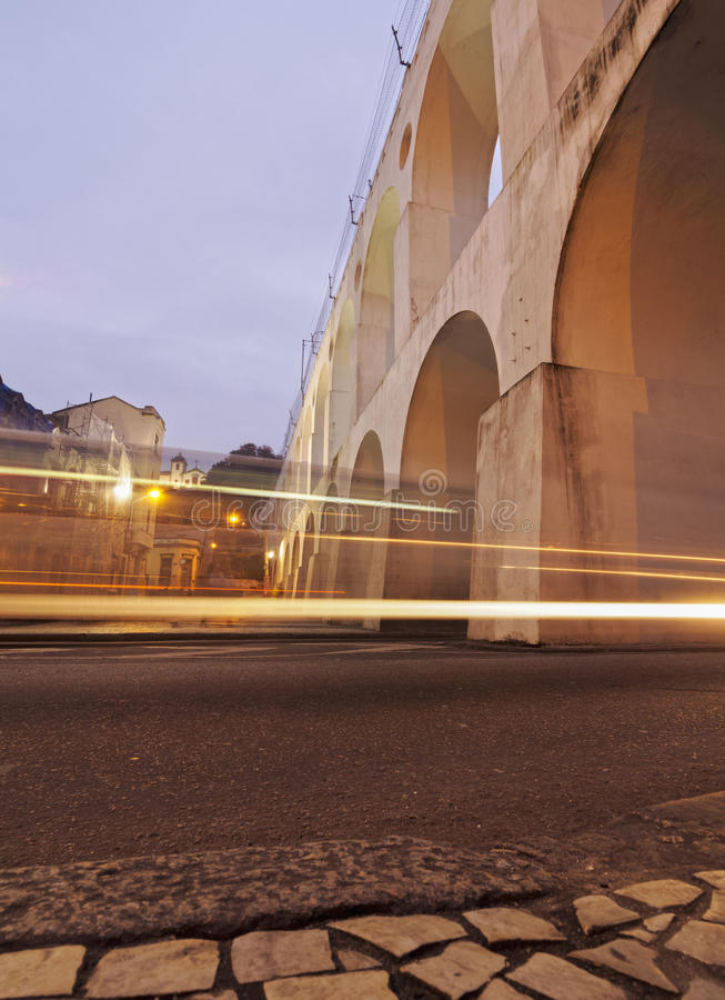Lapa曲拱在里约 免版税库存照片