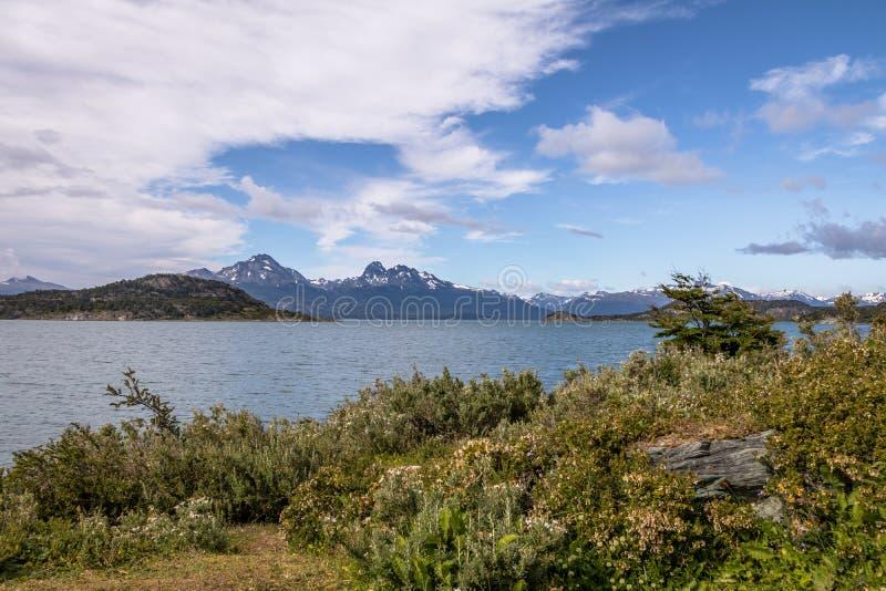 Lapataia zatoka przy Tierra Del Fuego parkiem narodowym w Patagonia - Ushuaia, Tierra Del Fuego, Argentyna fotografia royalty free
