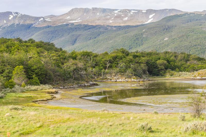 Lapataia zatoka, Tierra Del Fuego park narodowy obrazy royalty free