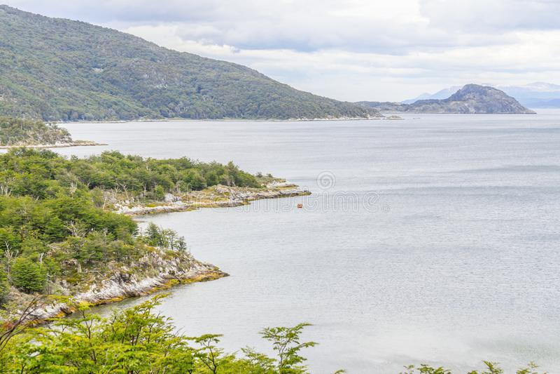 Lapataia zatoka, Tierra Del Fuego park narodowy obraz royalty free