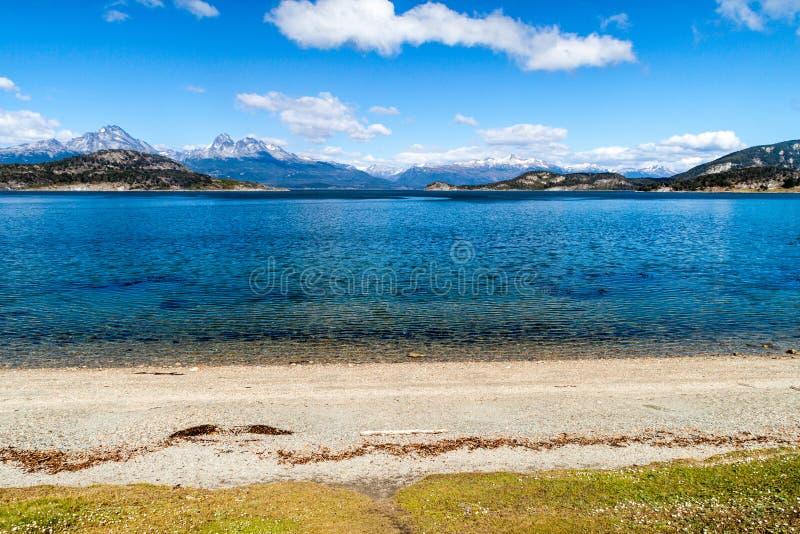 Lapataia zatoka w parku narodowym Tierra Del Fuego obraz royalty free