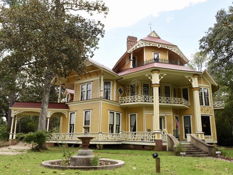 Lapham-Patterson House. This is a Summer picture of the Lapham-Patterson House located in Thomasville, Georgia in Thomas County. This three story wood house was stock images