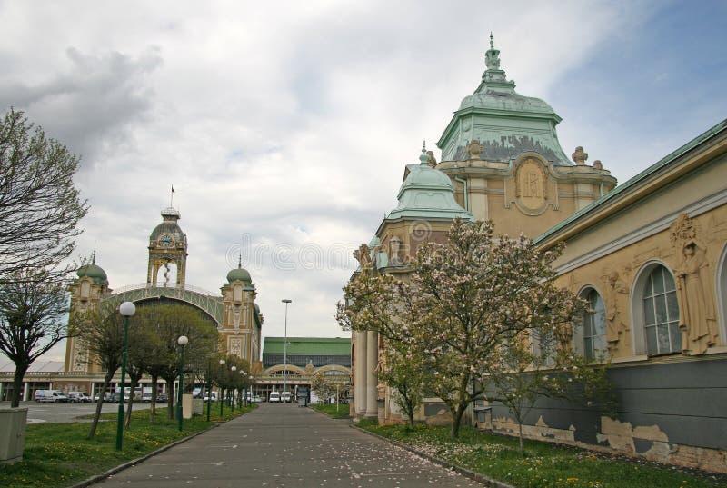 Lapidarium Национального музея и промышленного дворца выставочной площади Vystaviste в Праге стоковая фотография rf