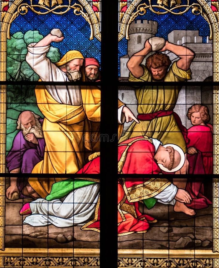 Lapidation de St Stephen photo stock
