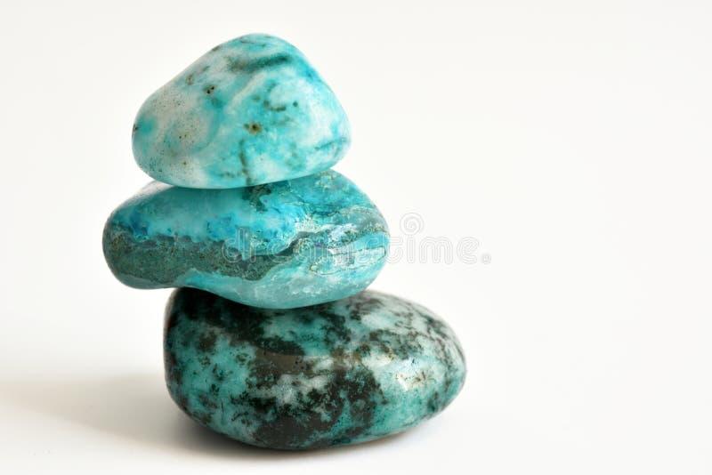 Lapide des cristaux de turquoise photo libre de droits
