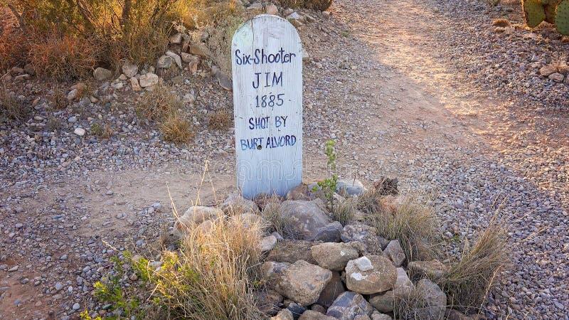 Lapide nel cimitero storico della collina dello stivale della pietra tombale immagine stock