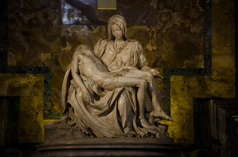 LaPieta durch Michelangelo stockbild